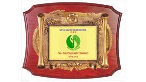 Bộ TN&MT tổ chức xét tặng giải thưởng Môi trường Việt Nam năm 2017